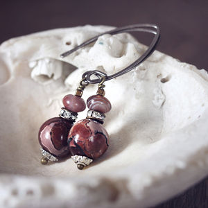 Jasper And Botswana Agate Earrings