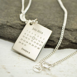 Personalised Never Forget Silver Pendant - 25th anniversary: silver