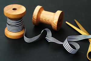 Black And White Striped Ribbon - interests & hobbies