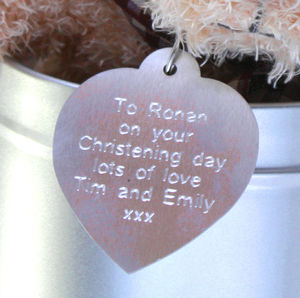 Additional Aluminium Tag For The Tinned Teddy - baby & child