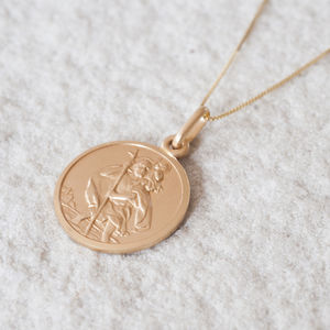 9ct Gold St Christopher Necklace
