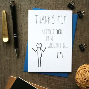 Bob: Thanks Mum Mother's Day Card