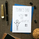 Bob: Thanks Dad Father's Day Card