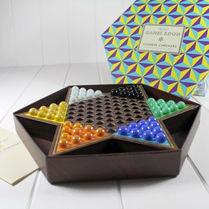 Stunning Chinese Checkers Set