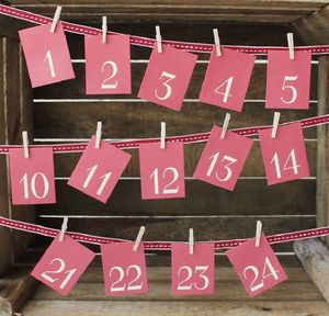 Advent Peg And Envelope Set