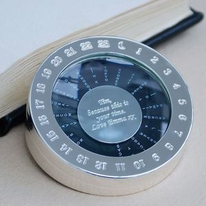 Personalised World Timer Paperweight