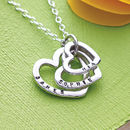 Personalised Family Names Heart necklace sterling silver