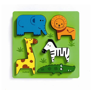 Jungle Wooden 3D Lift Out Puzzle Toy