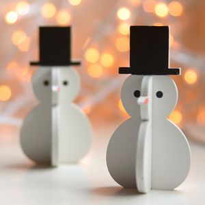 Snowman ,Penguin And Santa Decoration Sets - christmas home accessories