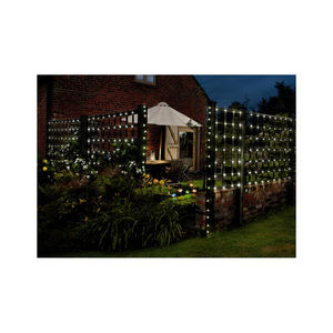 250 LED Solar Multi Action White String Lights - christmas lights