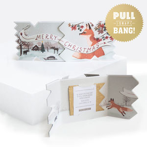 Winter Woodland Fox Christmas Cracker Card - cards & wrap