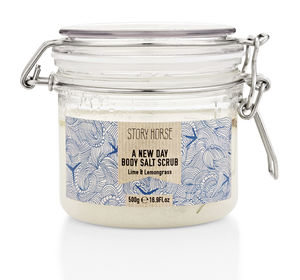 Lime And Lemongrass Body Salt Scrub - bath & body