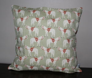 Fergie Horse Design Linen Cushion