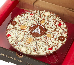 Christmas Chocolate Pizza - food & drink gifts