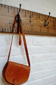 Giant Ruler Coat Hooks