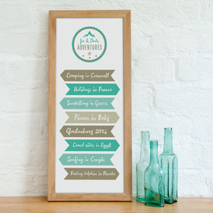 Personalised 'Our Adventures' Print - last-minute christmas gifts for him