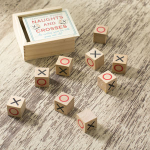 Wooden Naughts And Crosses Stocking Filler Game