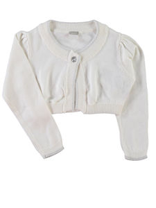Potine Off White Long Sleeve Knit Bolero - clothing