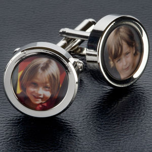 Personalised Photo Cufflinks - men's accessories