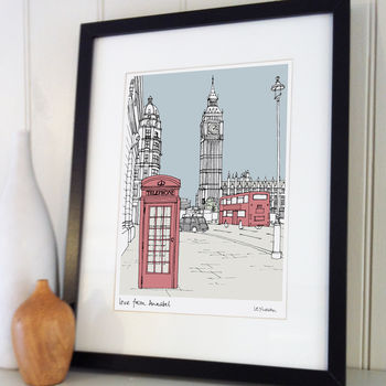 Personalised Favourite City Illustration