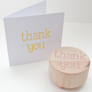 'Thank You' Hand Carved Rubber Stamp - stamps & ink pads