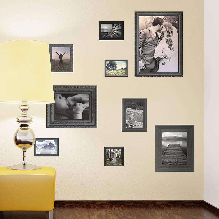 black photo frames wall stickers by the binary box photo frame tree wall sticker vinyl wall art stickers by