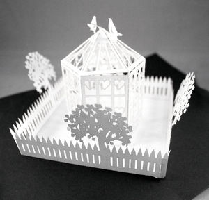 Popup Birdcage And Doves Greetings Card