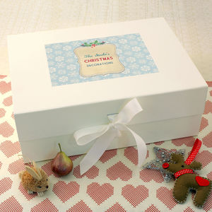 Personalised Christmas Keepsake Box - view all decorations