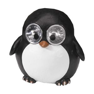 Bright Eye Penguin Solar Garden Light Decoration