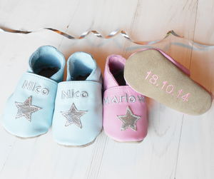 Personalised Keepsake Star Baby Shoes