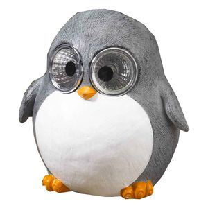 Bright Eye Penguin Baby Solar Garden Light Decoration
