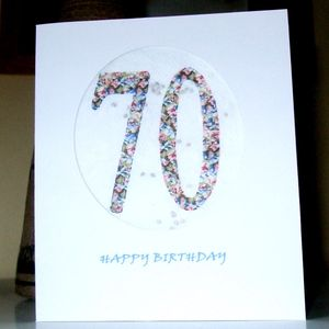 Age Birthday Seed Cards - 70
