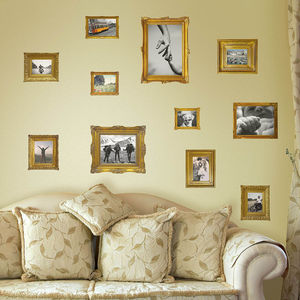 Gold Photo Frames Wall Stickers - picture frames