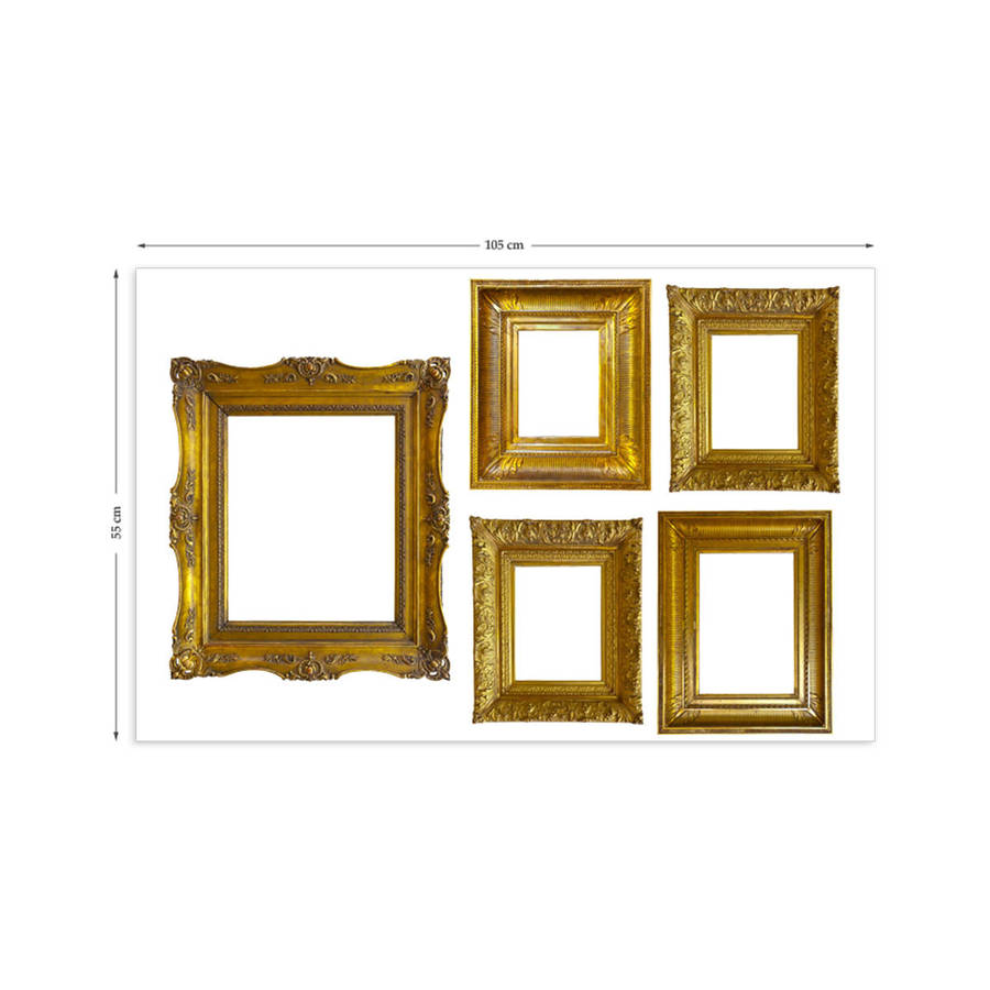 Wall Art Stickers Not On The High Street : Gold photo frames wall stickers by the binary box