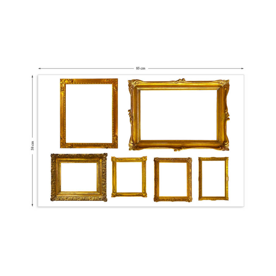 gold photo frames wall stickers by the binary box