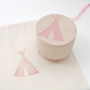 Native American Teepee Hand Carved Rubber Stamp
