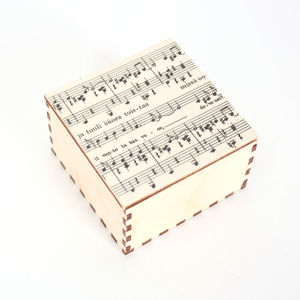 Music Cufflink Or Jewellery Box