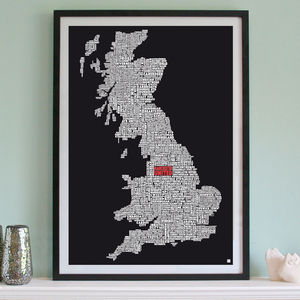 Personalised Football Team Print - gifts for him