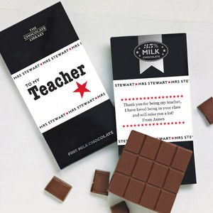 Thank You Teacher Chocolate Personalised - gifts for teachers