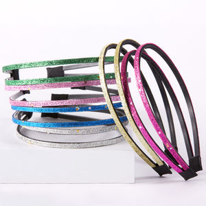 Girls Sparkling Glitter Double Hair Band - head pieces