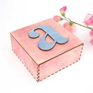 Personalised Initial Trinket Box - interests & hobbies