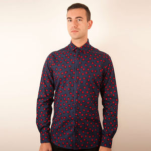Ladybird Print Shirt - men's fashion