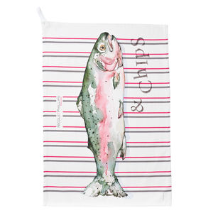 Large Fish And Chips Tea Towel