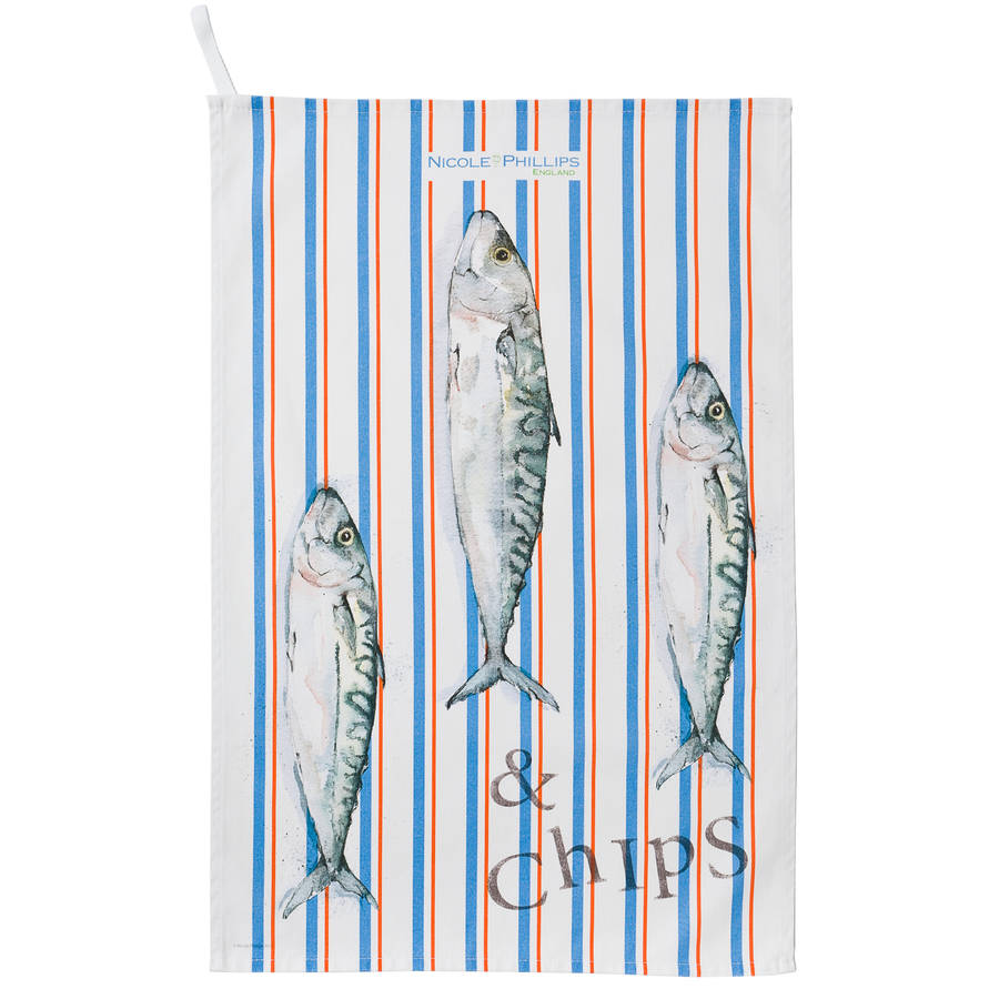 Fish And Chip Tea Towel