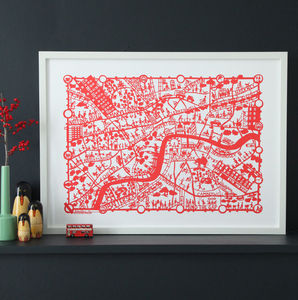 London Map Print - contemporary art