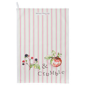 Blackberry And Apple Crumble Tea Towel