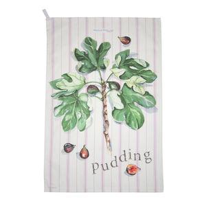 Figgy Pudding Tea Towel - tableware