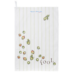 Gooseberry Fool Tea Towel - kitchen linen