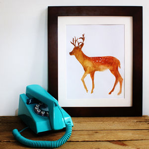 Fawn Print - nature inspired art