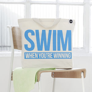 'Swim When You're Winning' Gym Bag - shoulder bags